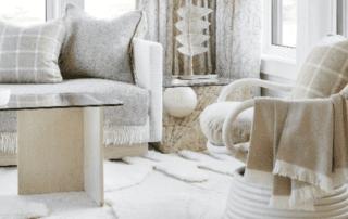 Wool carpet in home